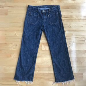 Michael Kors Horsebit Crop Jeans Frayed Hem Sz 8